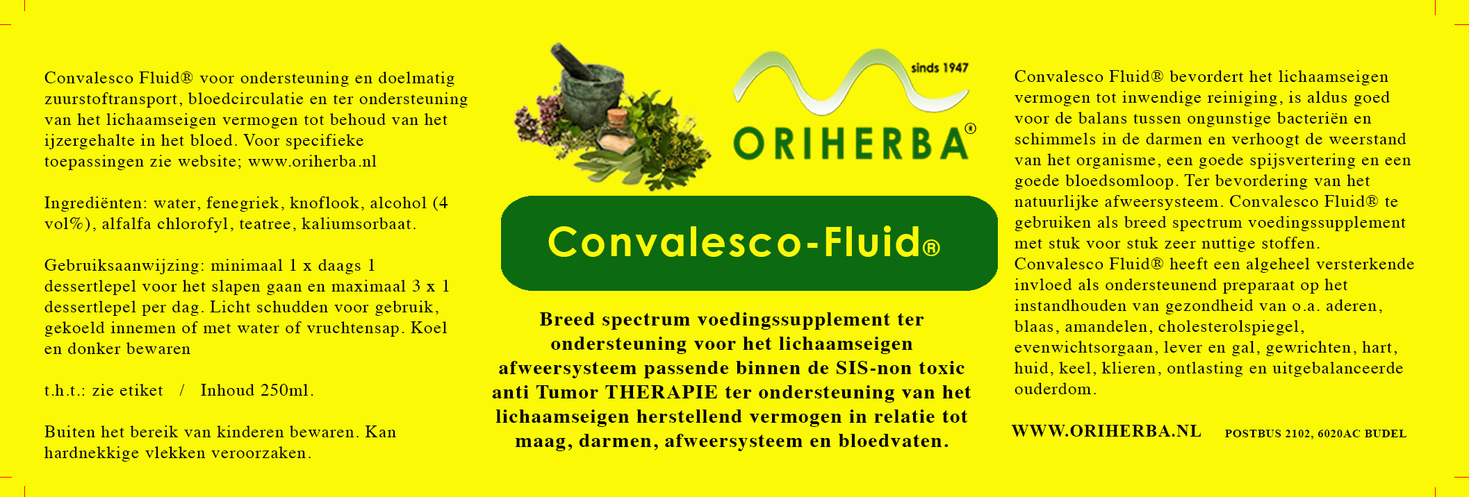 convalesco fluid